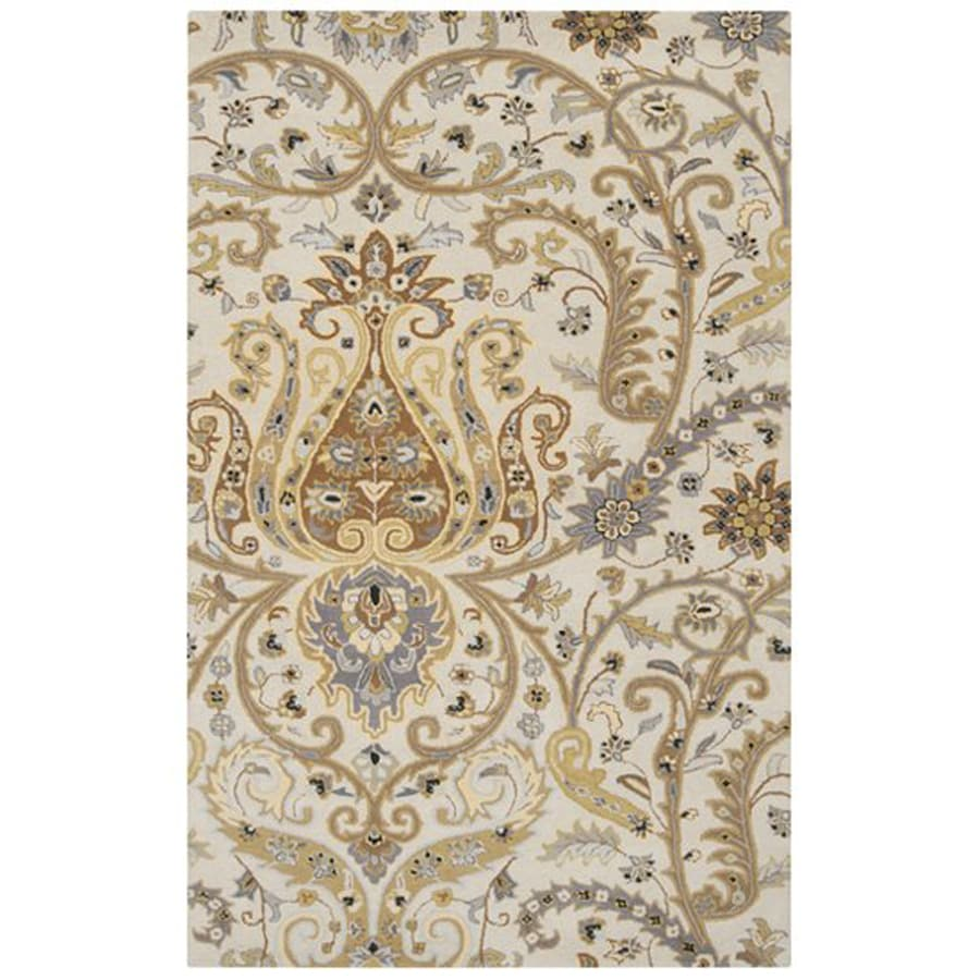Surya Ancient Treasures Taupe Rectangular Indoor Tufted Oriental Area Rug (Common: 5 x 8; Actual: 5-ft W x 8-ft L)