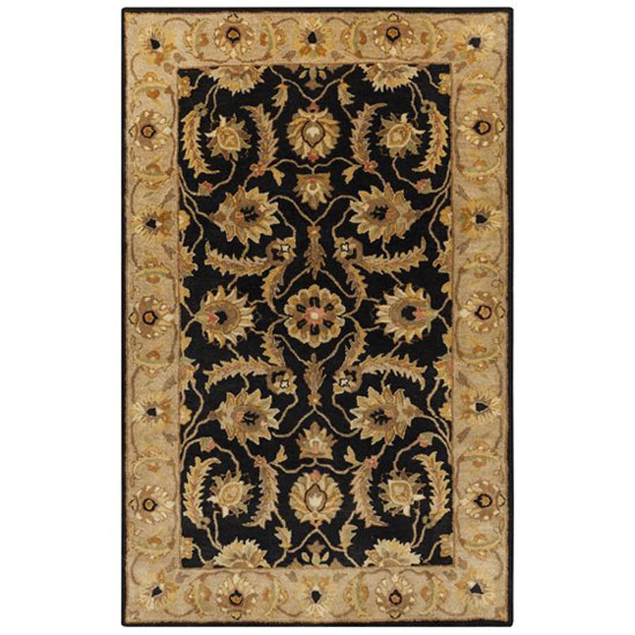 Surya Ancient Treasures Gray Rectangular Indoor Tufted Oriental Area Rug (Common: 9 x 13; Actual: 9-ft W x 13-ft L)