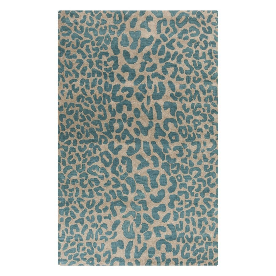 Surya Athena Green Rectangular Indoor Tufted Animals Area Rug (Common: 5 x 8; Actual: 5-ft W x 8-ft L)