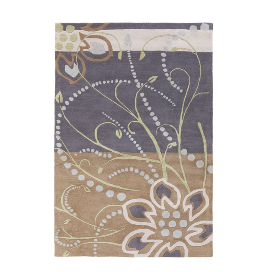 Surya Athena Taupe Rectangular Indoor Tufted Area Rug (Common: 5 x 8; Actual: 5-ft W x 8-ft L)