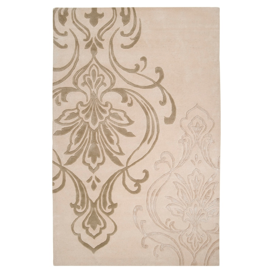 Surya Modern Classics Ivory Rectangular Indoor Tufted Area Rug (Common: 5 x 8; Actual: 5-ft W x 8-ft L)