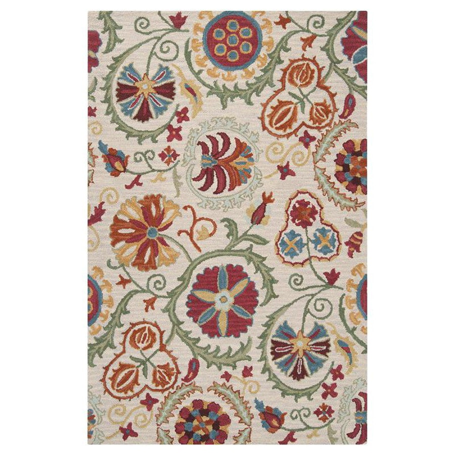 Surya Centennial Rectangular Indoor Hand-Hooked Nature Area Rug (Common: 5 x 8; Actual: 5-ft W x 8-ft L)