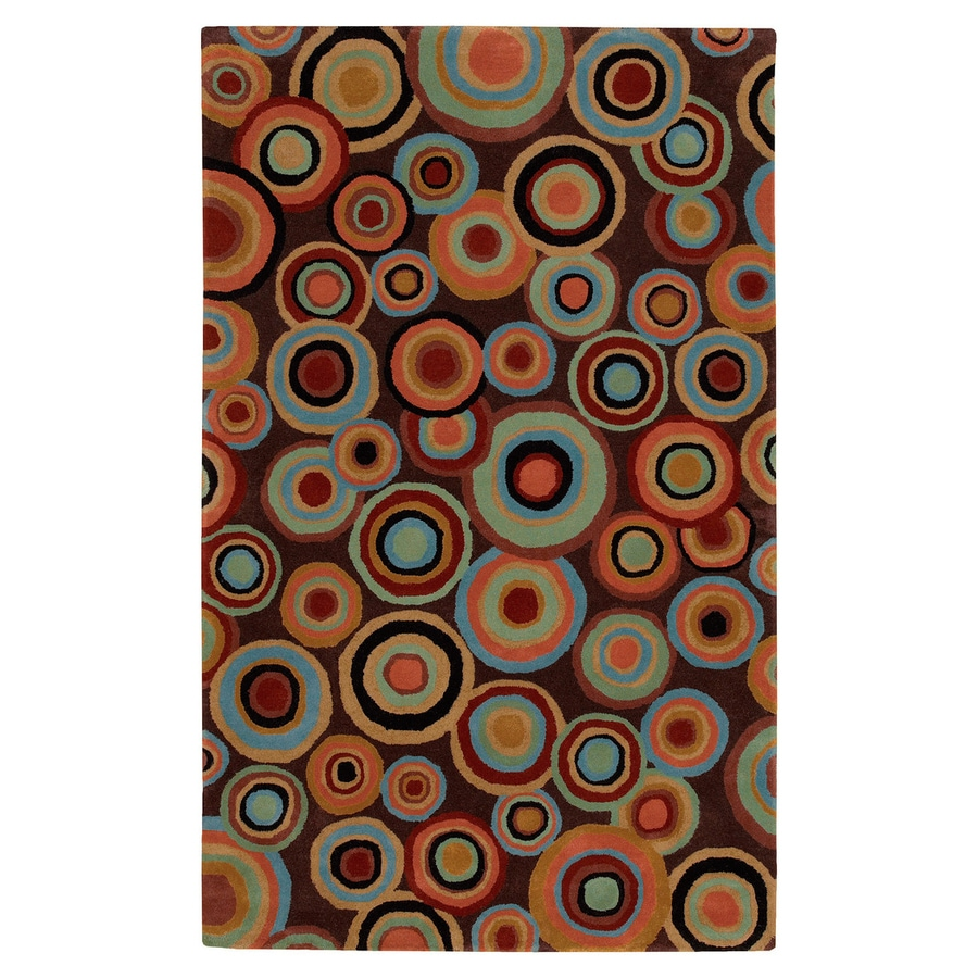 Surya Dazzle Brown Rectangular Indoor Tufted Area Rug (Common: 8-ft x 11-ft; Actual: 8-ft W x 11-ft L)
