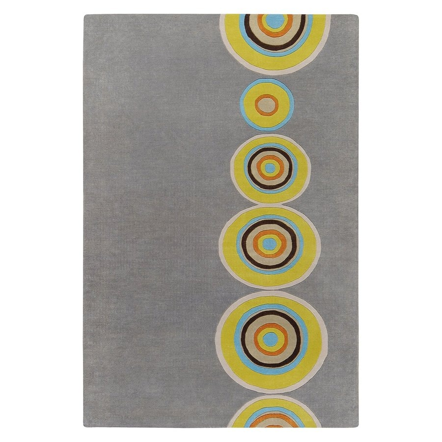Surya Dazzle Grey Rectangular Indoor Tufted Area Rug (Common: 5 x 8; Actual: 5-ft W x 8-ft L)