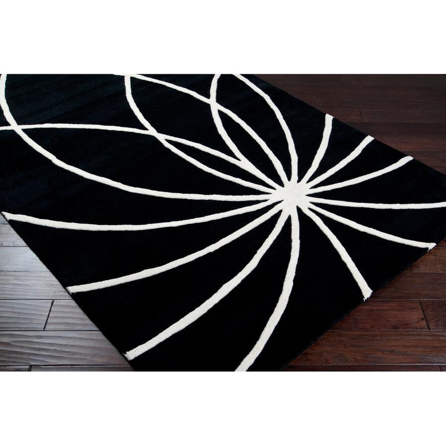 Surya Forum Coal Black Rectangular Indoor Tufted Area Rug (Common: 8-ft x 11-ft; Actual: 8-ft W x 11-ft L)