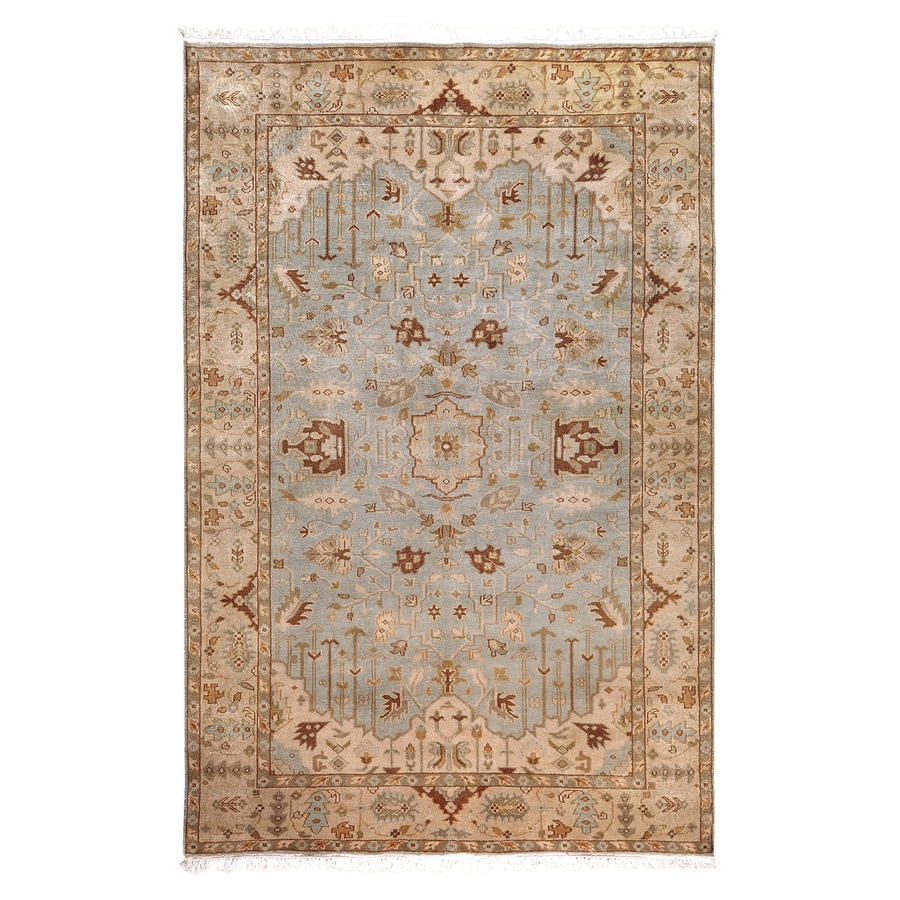 Surya Adana Light Blue Rectangular Indoor Hand-Knotted Oriental Area Rug (Common: 8 x 11; Actual: 8-ft W x 11-ft L)