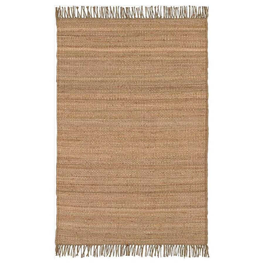 Surya Jute Natural Rectangular Indoor Woven Area Rug (Common: 5-ft x 8-ft; Actual: 5-ft W x 8-ft L)