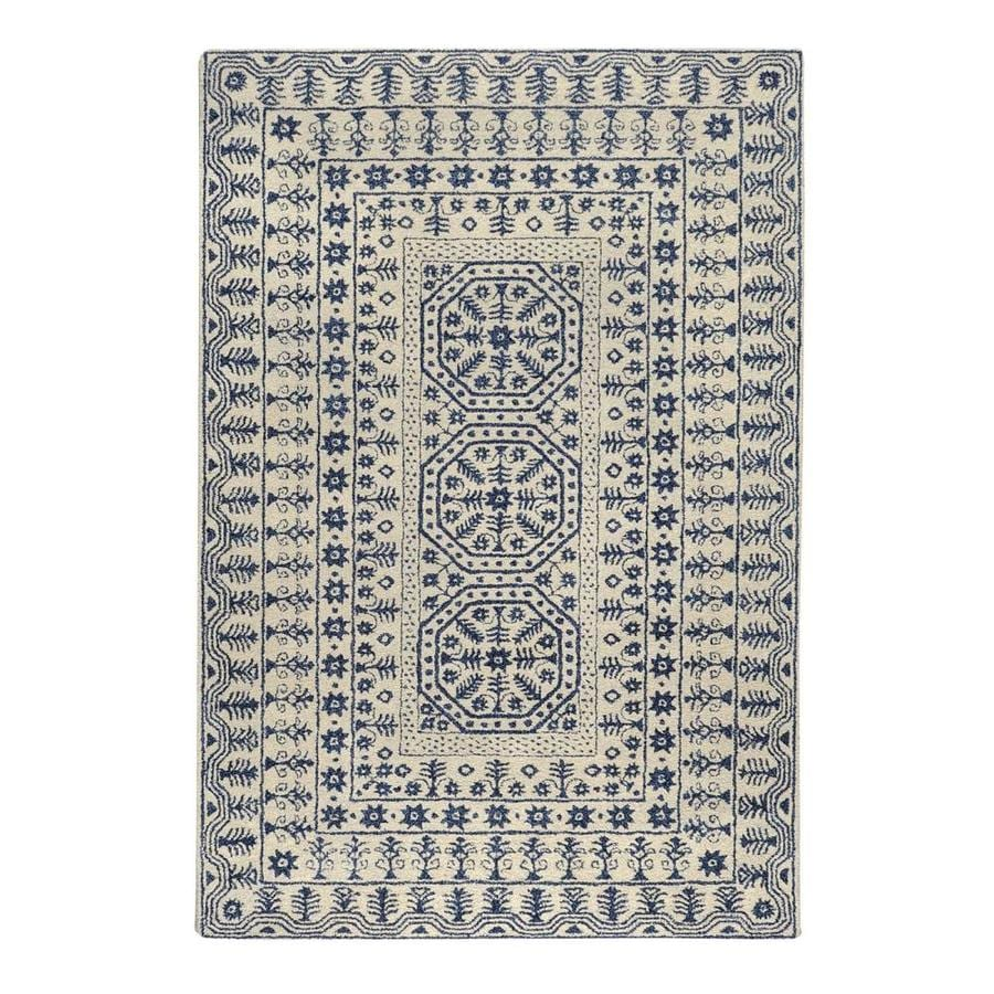 Surya Smithsonian Ivory Rectangular Indoor Tufted Area Rug (Common: 8 x 11; Actual: 8-ft W x 11-ft L)