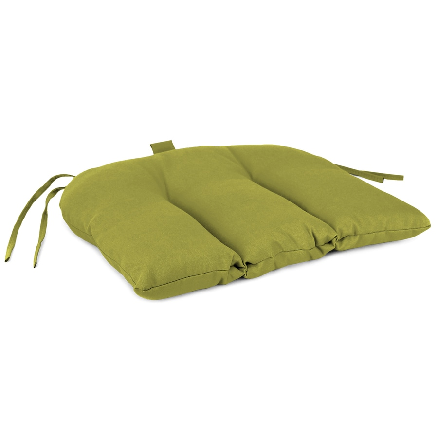 Jordan Manufacturing Square Solid Kiwi Patio Chair Cushion