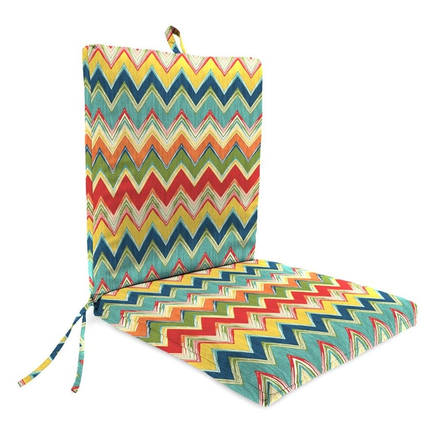 Jordan Manufacturing Culloden Fiesta Geometric Standard Patio Chair Cushion