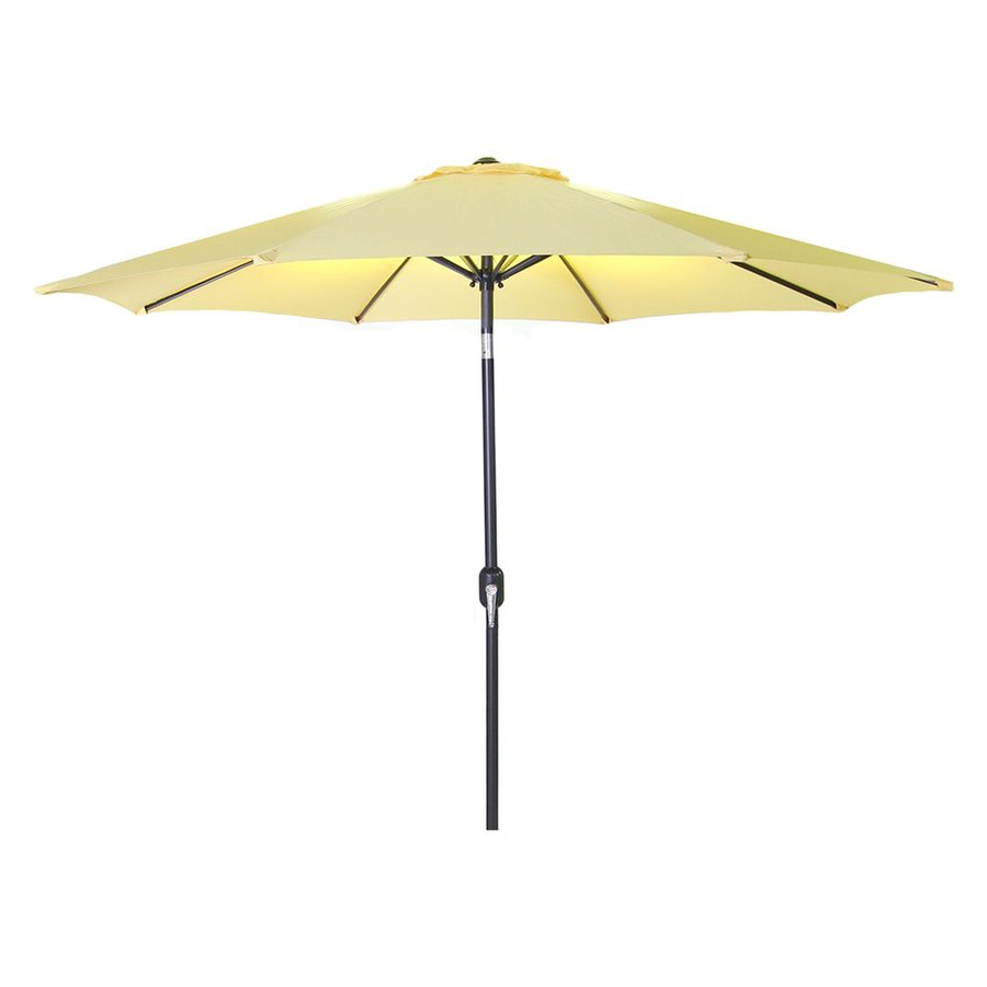 Jordan Manufacturing Canary Yellow Market Patio Umbrella (Common: 9-ft W x 9-ft L; Actual: 9-ft W x 9-ft L)