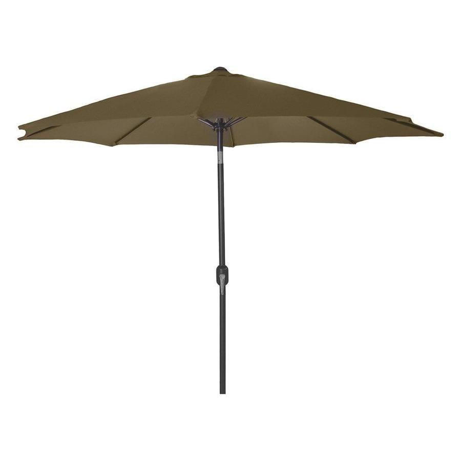 Jordan Manufacturing Khaki Market Patio Umbrella (Common: 9-ft W x 9-ft L; Actual: 9-ft W x 9-ft L)