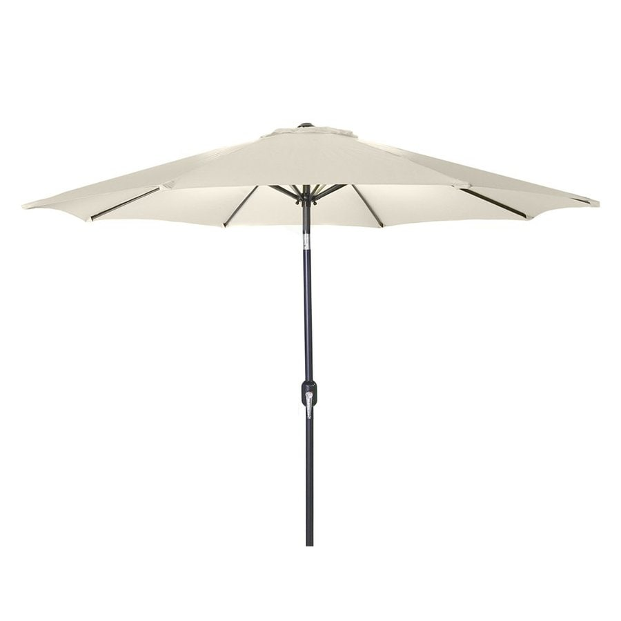 Jordan Manufacturing Natural Market Patio Umbrella (Common: 9-ft W x 9-ft L; Actual: 9-ft W x 9-ft L)