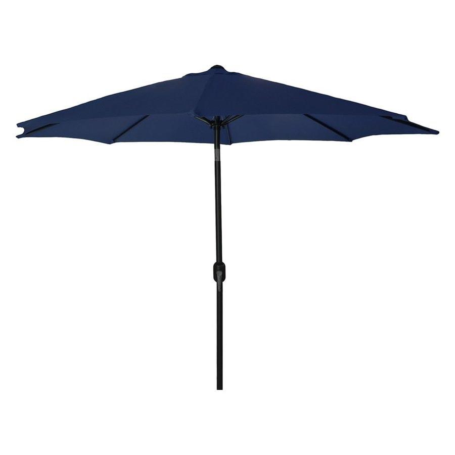 Jordan Manufacturing Navy Market Patio Umbrella (Common: 9-ft W x 9-ft L; Actual: 9-ft W x 9-ft L)
