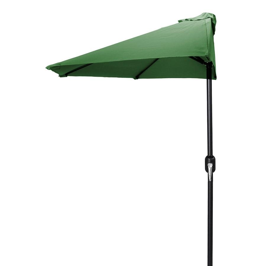 Jordan Manufacturing Green Market Patio Umbrella (Common: 4-ft W x 7-ft L; Actual: 3.84-ft W x 7.17-ft L)