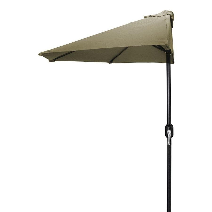 Jordan Manufacturing Khaki Market Patio Umbrella (Common: 4-ft W x 7-ft L; Actual: 3.84-ft W x 7.17-ft L)