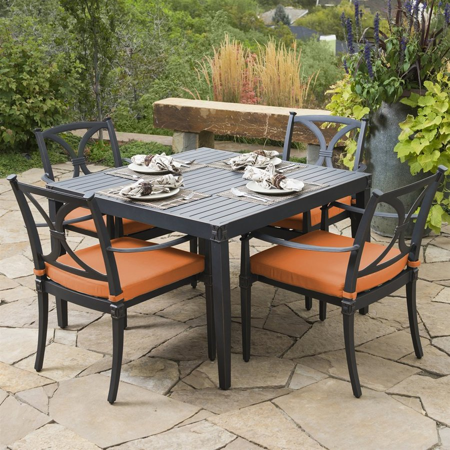 RST Brands Astoria 5-Piece Charcoal Aluminum Patio Dining Set