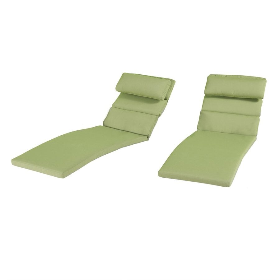 RST Brands Ginkgo Green Solid Standard Patio Chair Cushion for Chaise Lounge