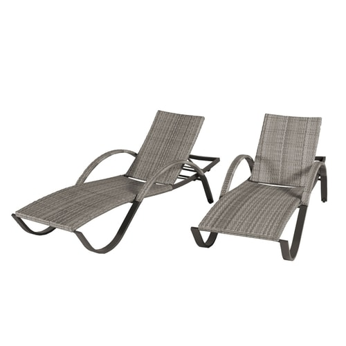 Rst Brands Cannes Stackable Set Of 2 Wicker Chaise Lounge