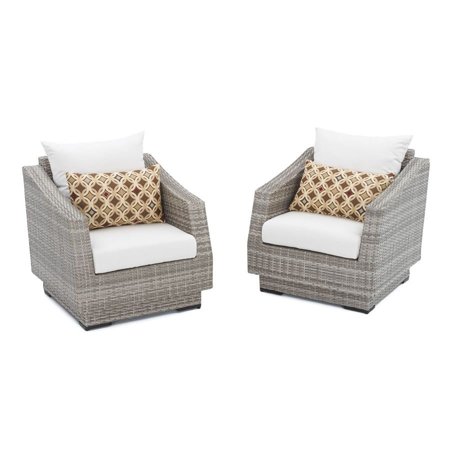RST Brands Cannes 2-Count Wicker Patio Conversation Chairs