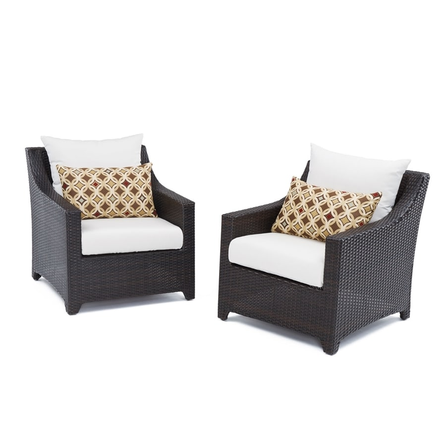 RST Brands Deco 2-Count Espresso Wicker Patio Conversation Chairs