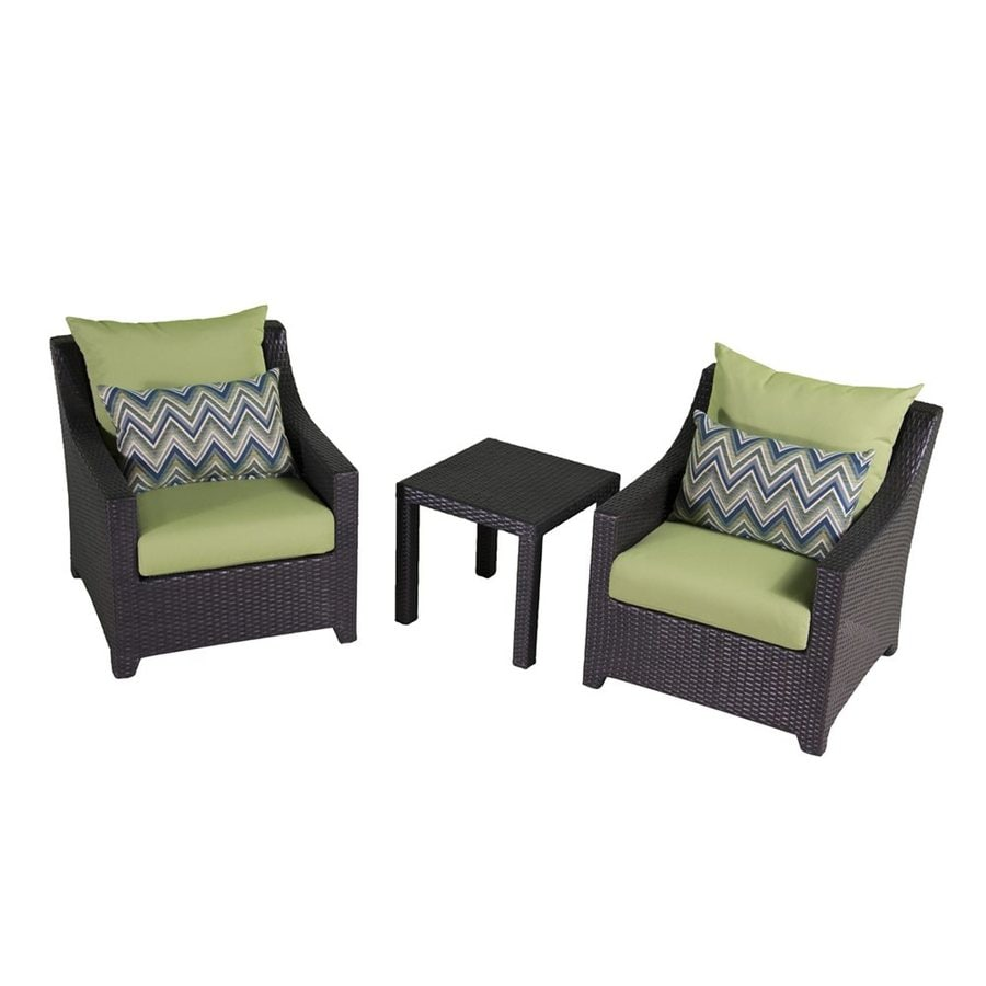 rst brands deco 3 piece wicker patio conversation set at