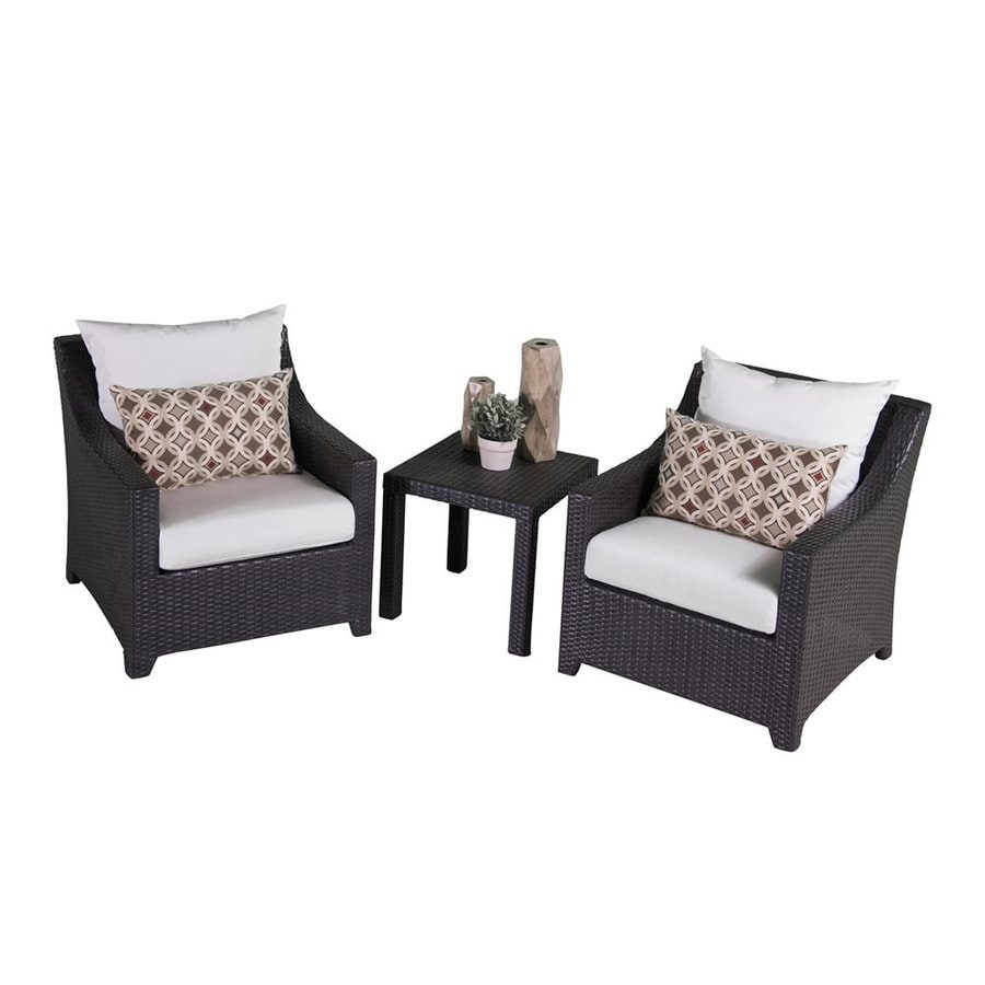 RST Brands Deco 3-Piece Wicker Patio Conversation Set