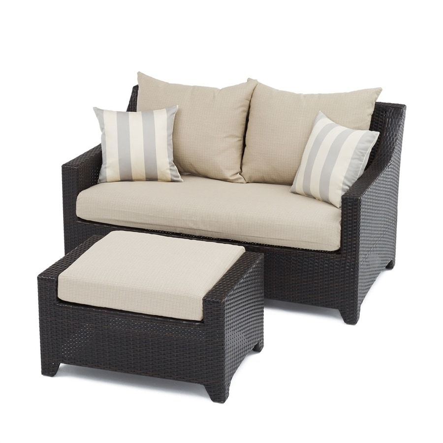 RST Brands Deco 2-Piece Wicker Patio Conversation Set