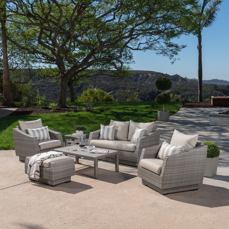 RST Brands Cannes 6-Piece Wicker Patio Conversation Set