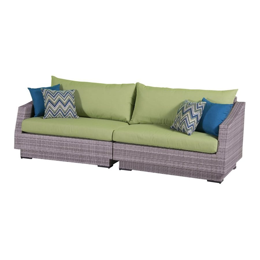 RST Brands Cannes Solid Cushion Wicker Sofa