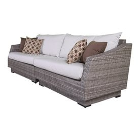RST Brands Cannes Solid Cushion(s) Included Wicker Sofa