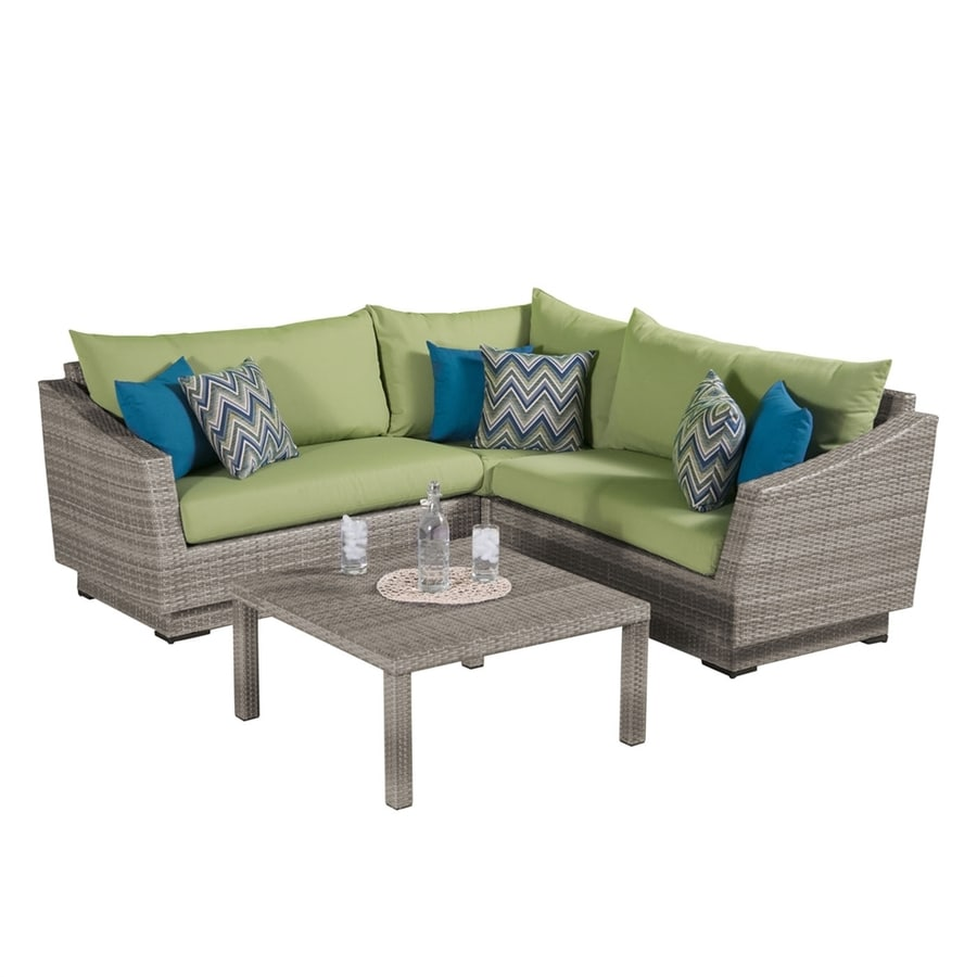 RST Brands Cannes 4-Piece Wicker Patio Conversation Set