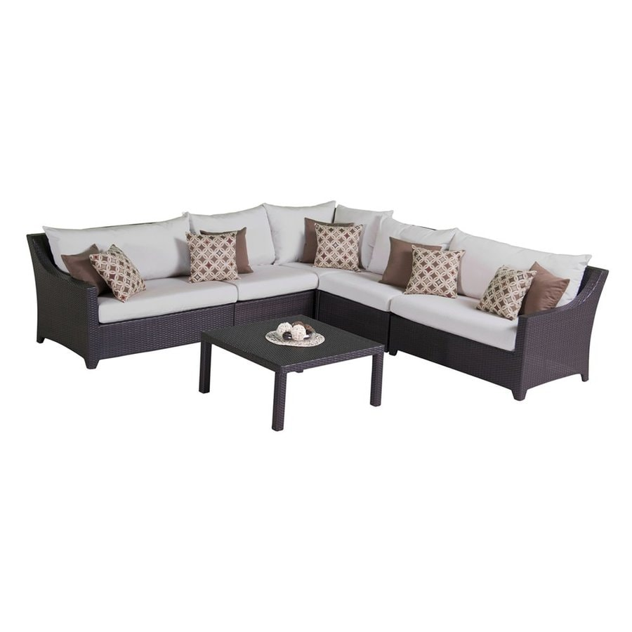 RST Brands Deco 6-Piece Wicker Patio Conversation Set