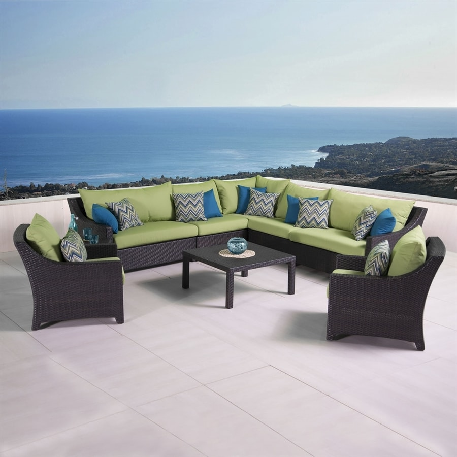 RST Brands Deco 9-Piece Wicker Patio Conversation Set