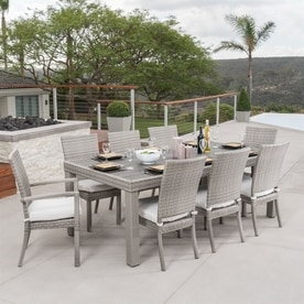 RST Brands Cannes 9 Piece Charcoal Patio Dining Set