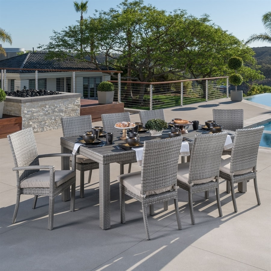 RST Brands Cannes 9-Piece Slate Grey Patio Dining Set