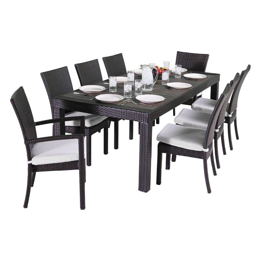 RST Brands Deco 9-Piece Composite Material Patio Dining Set