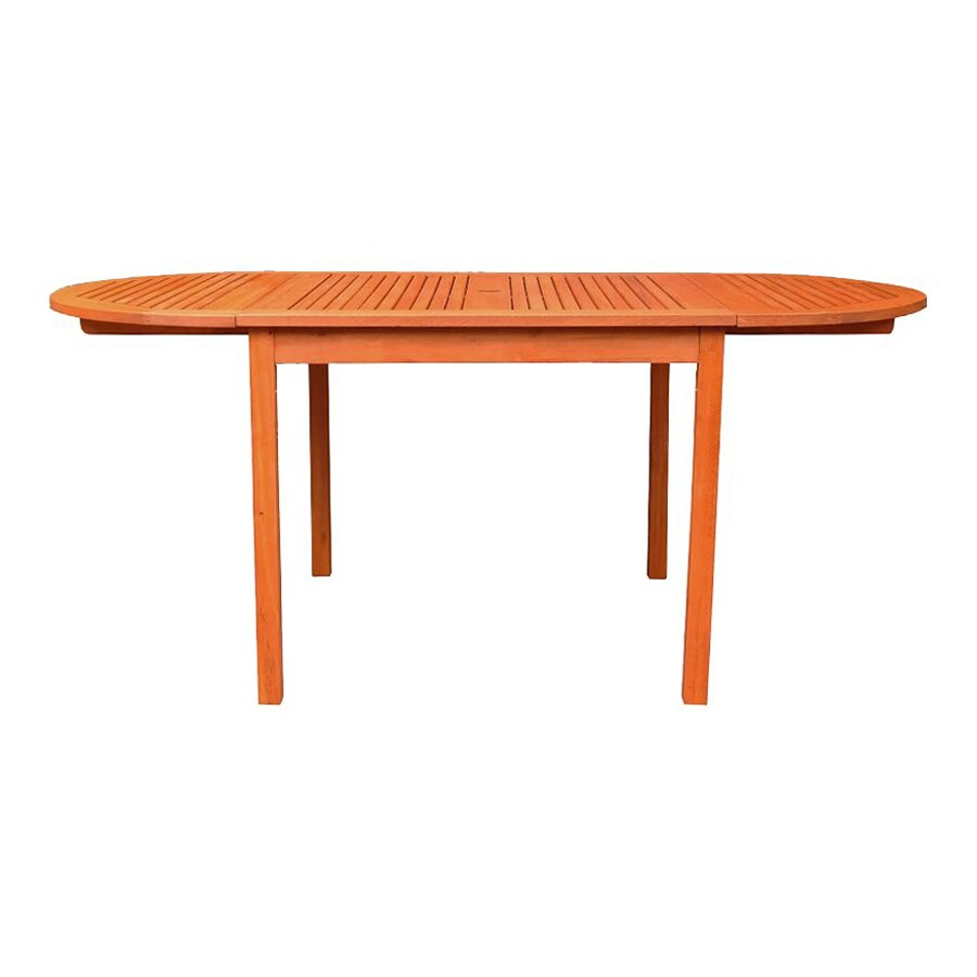 VIFAH 35-in W x 71-in L Oval Eucalyptus Dining Table