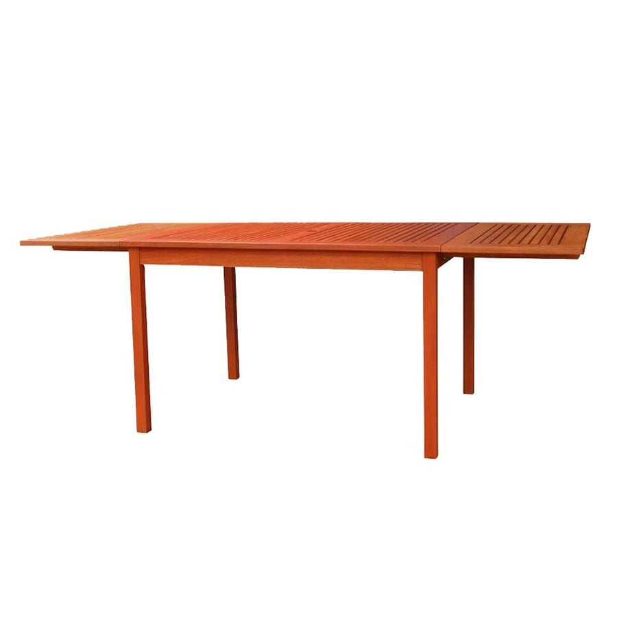 VIFAH 35-in W x 82-in L Rectangle Eucalyptus Dining Table