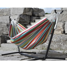 vivere fabric hammock stand included shop hammocks at lowes    rh   lowes