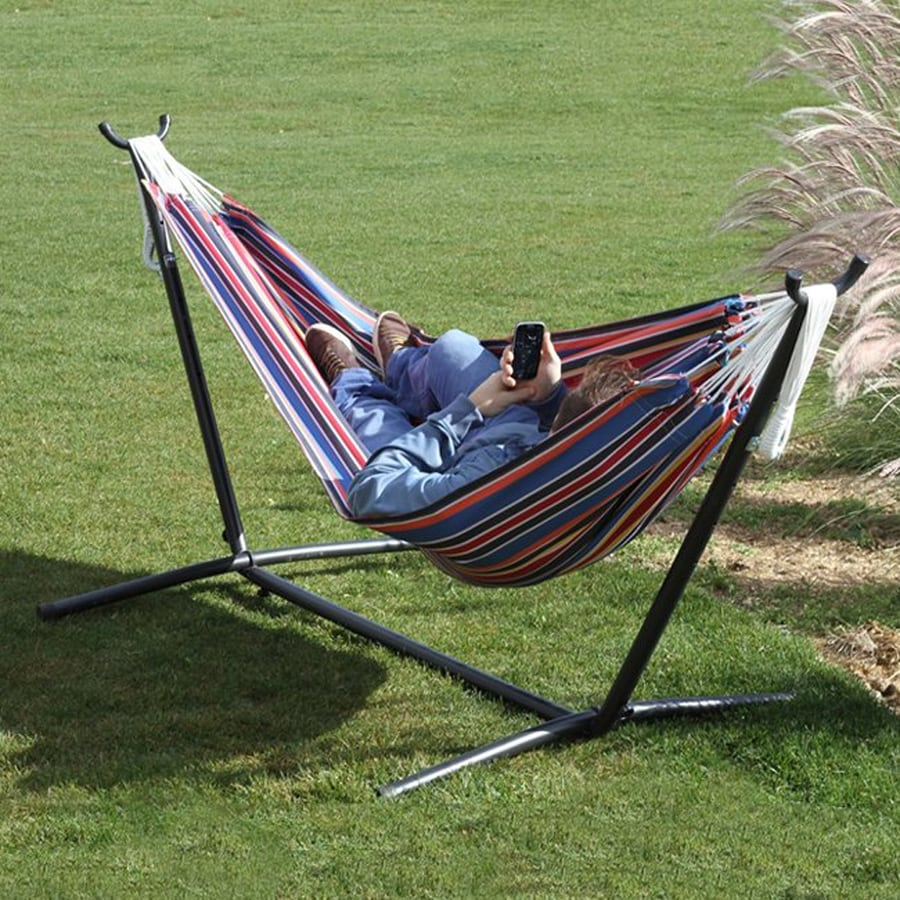 Shop Vivere Techno Fabric Hammock Stand Included At Lowes Com