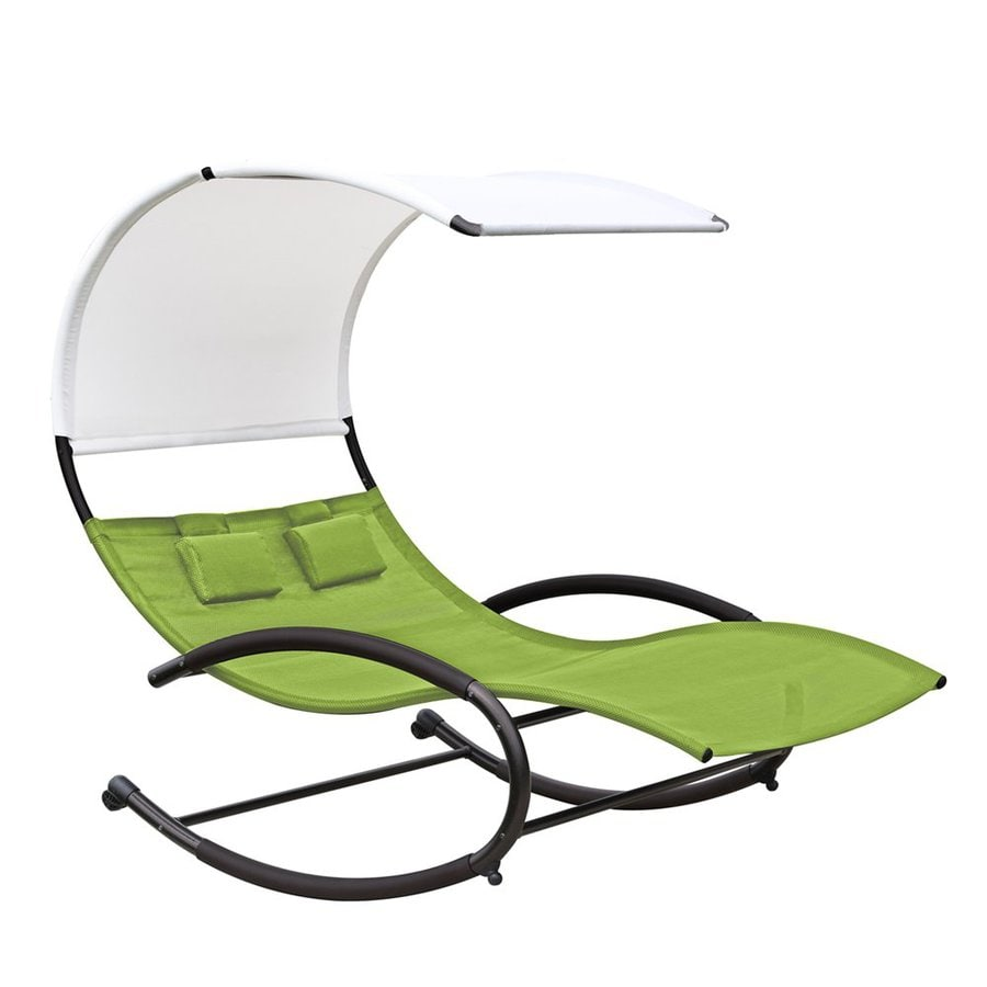 Vivere Charcoal Steel Patio Chaise Lounge
