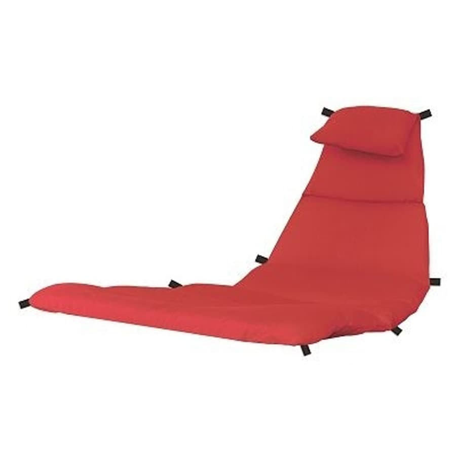 Vivere Dream Trapezoid Solid Cherry Red Patio Chair Cushion