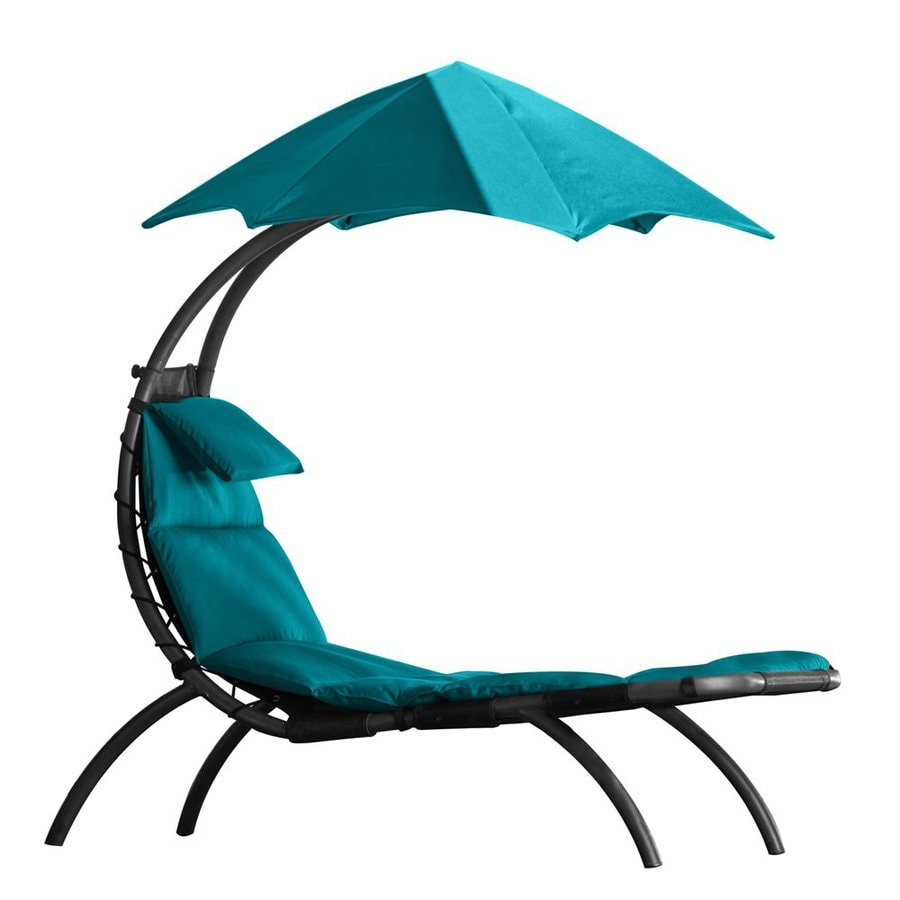 Vivere Charcoal Patio Chaise Lounge