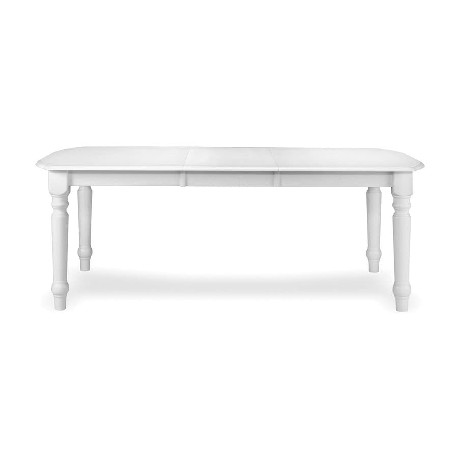 International Concepts Simply Linen White Rectangular Dining Table