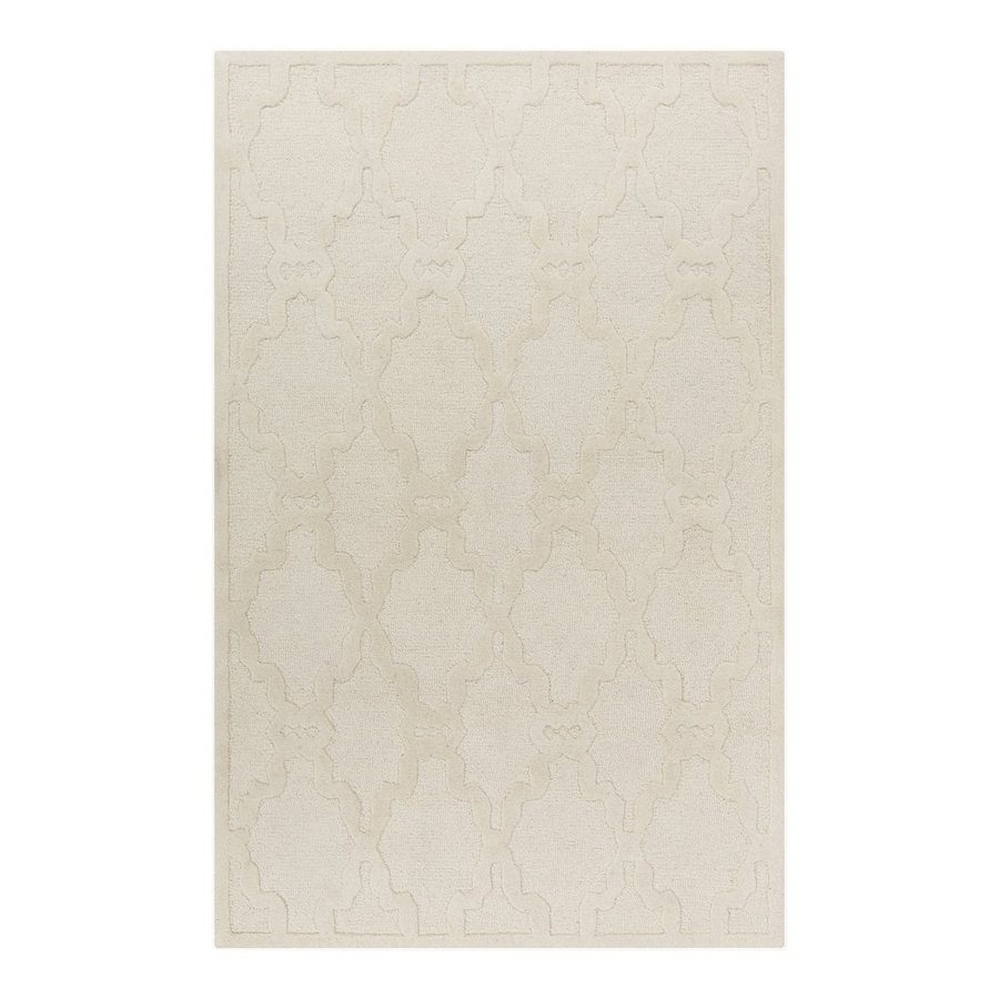 Surya Chandler Ivory Rectangular Indoor Tufted Area Rug (Common: 5 x 8; Actual: 5-ft W x 8-ft L)