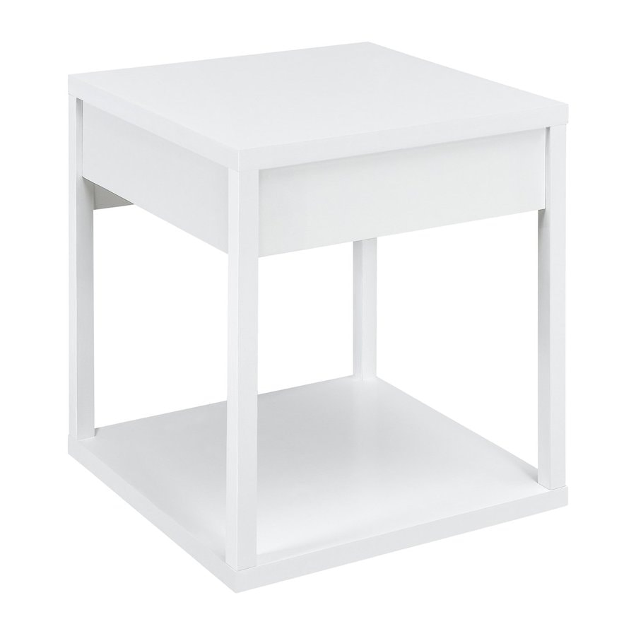 Altra Furniture White Square End Table