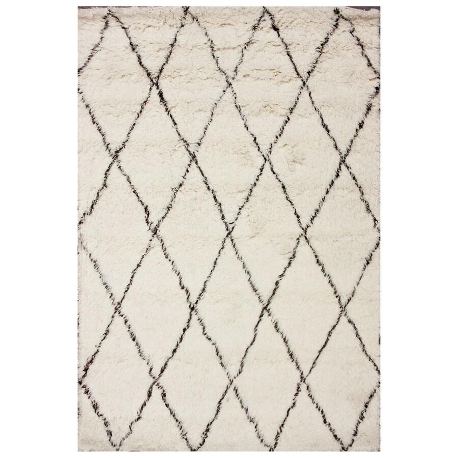 nuLOOM Marrakesh Ivory Rectangular Indoor Shag Area Rug (Common: 5 x 7; Actual: 60-in W x 84-in)