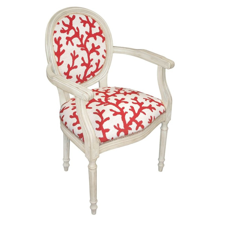 123 Creations Red Coral Accent Chair
