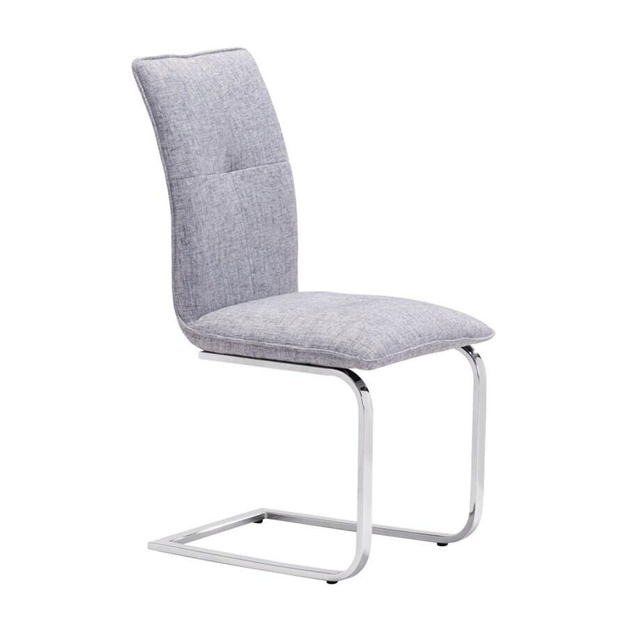 Zuo Modern Set of 2 Anjou Chrome/Gray Side Chairs